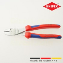 Knipex high-leverage power diagnoal cutters, multi-component grips, chrome